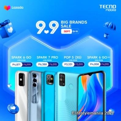 TECNO Mobile Lazada 9.9 Big Brands Sale