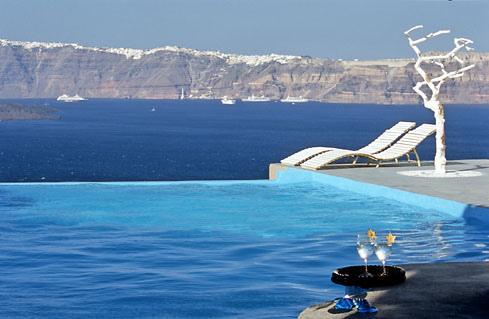 Astarte Suites Hotel , Infinity Pool , Santorini Greece