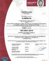 2017 RENOVACION CERTIFICADO ELIMINA ISO 9001