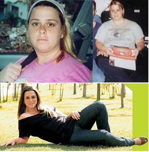 Larissa, 45 kilos mais leve