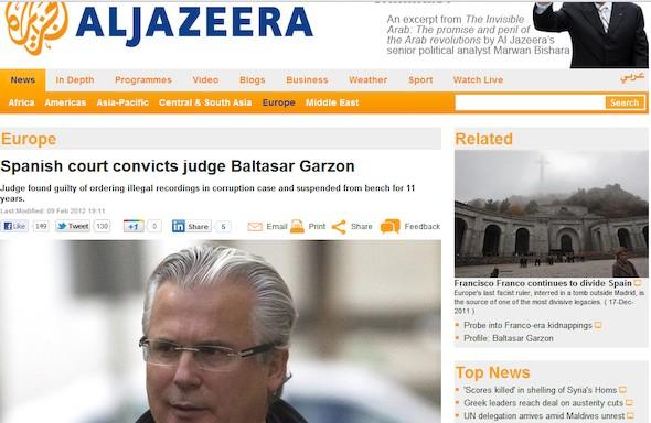 Captura de pantalla de Al Jazeera.