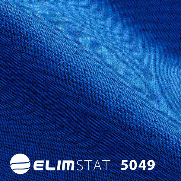 Sewn with black carbon threading to give it static shielding properties 5049 series cotton - polyester blended fabric hangs crisply on the wearer.