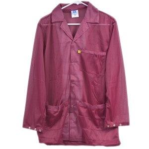 8812 Series Burgundy Snap Cuff ESD Jacket