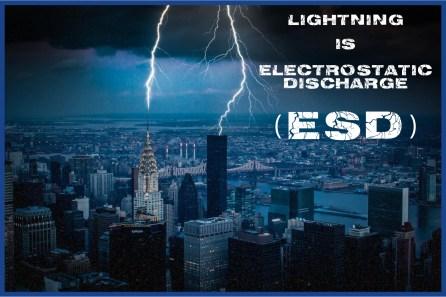 Lightning hitting the Chrysler Building in New York City