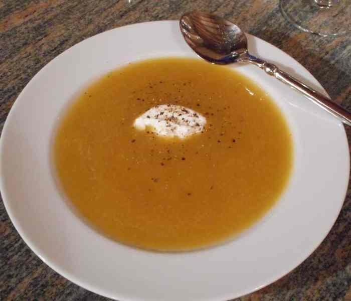 Golden Summer Plum Soup