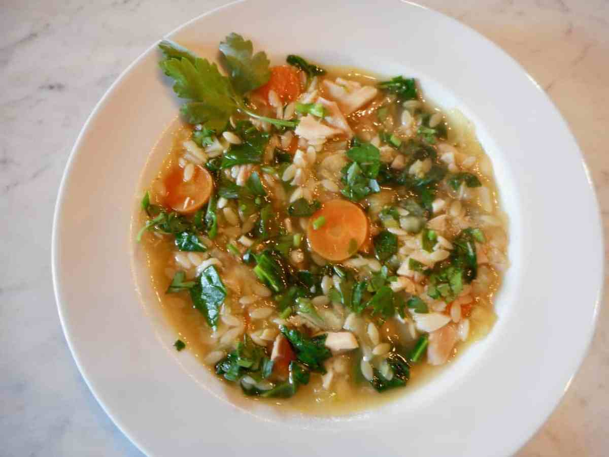 Quick Chicken Orzo Vegetable Soup
