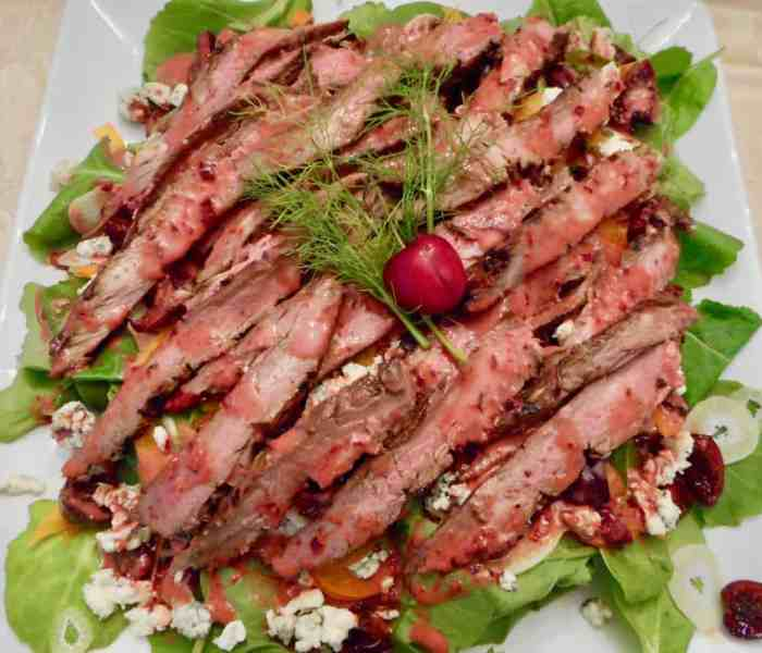 Cherry Blue Flank Salad