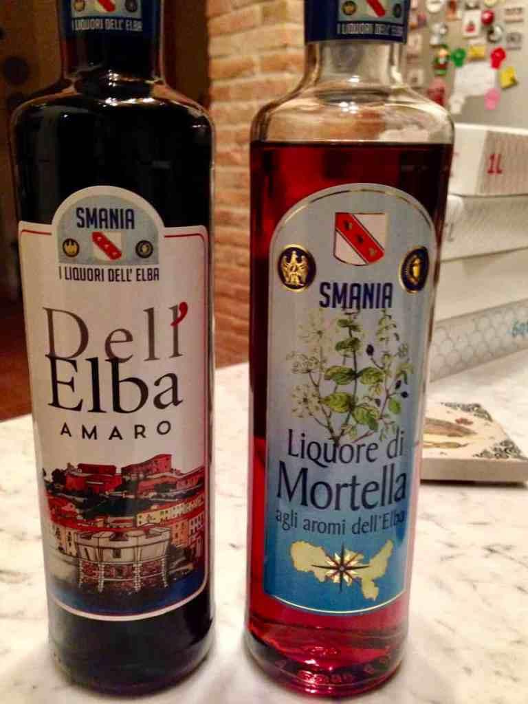 The local Smania company's Elba Amaro and Mortella liqueur
