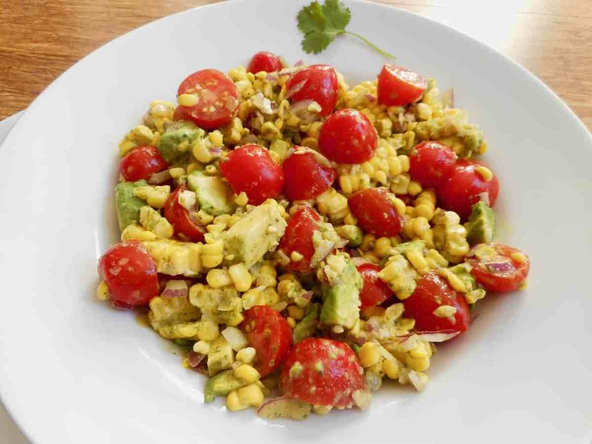 Fresh and Fast Corn Avocado Tomato Salad