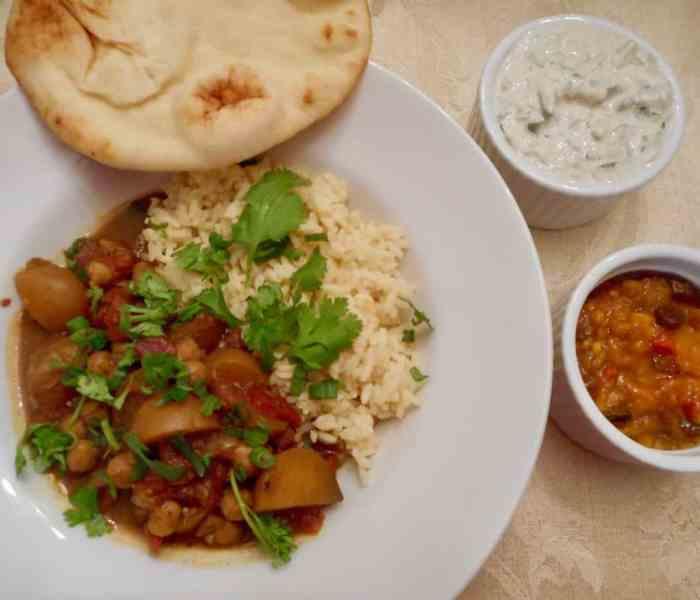Slow Cooker Chana Aloo (Chickpea Potato Curry Masala)