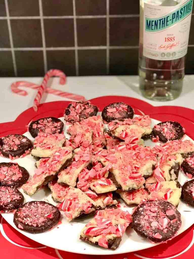 Travel*Food*Cool Candy Cane Bark And Boozy Buttons