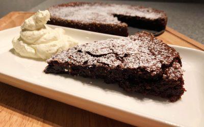 Kladdkaka med Karl Fazer choklad