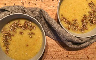 Blomkåls- och linssoppa