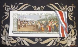 Pintura Billete de Cinco Colones