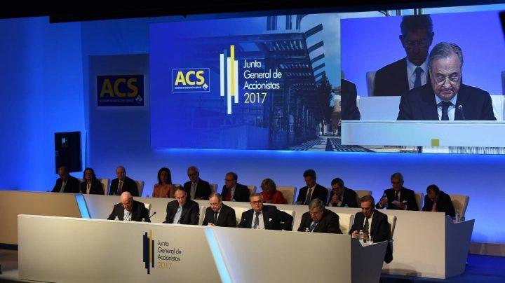 La Junta de ACS este jueves, durante la presentación de Florentino Pérez.