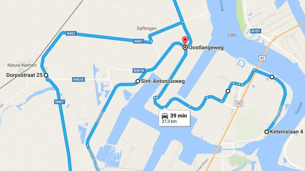 El recorrido en Google Maps.