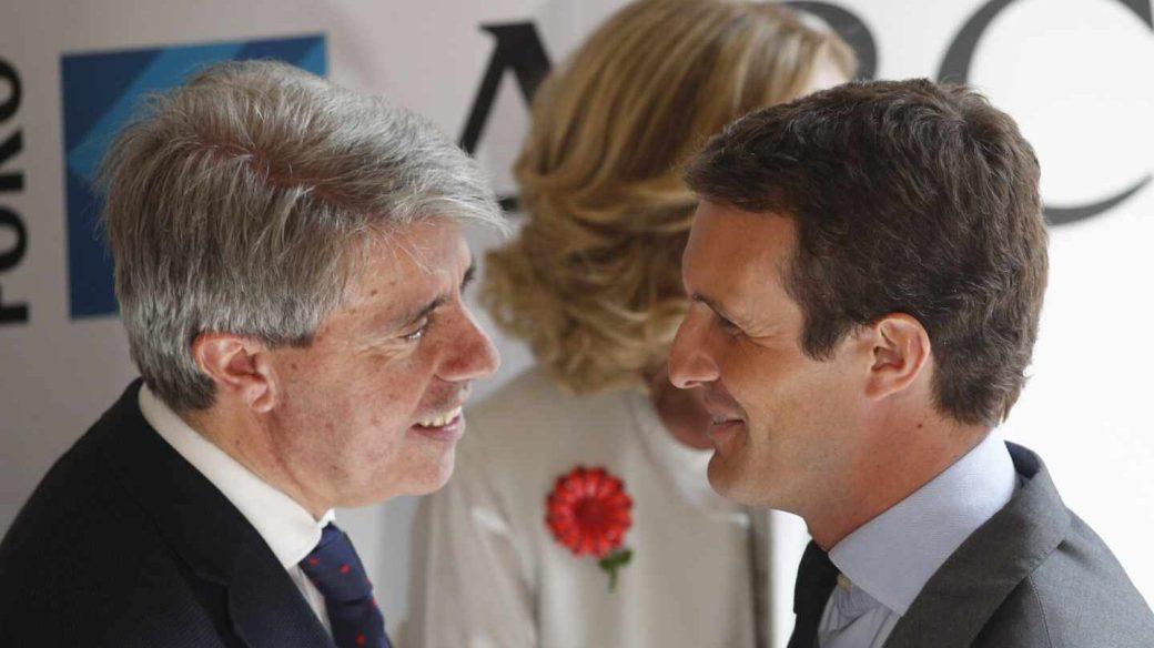 Garrido y Casado en el Foro ABC Deloitte en Madrid, el pasado 1 de octubre.