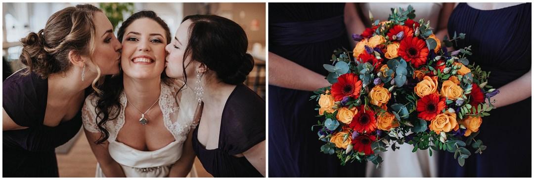 Sara och Christoffers vinterbröllop i Järfälla Kyrka