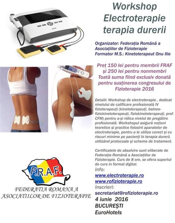 curs electroterapie bucuresti 2016