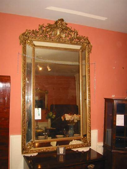 ANTIQUE FURNITURE WAREHOUSE Large Antique Mirror Large