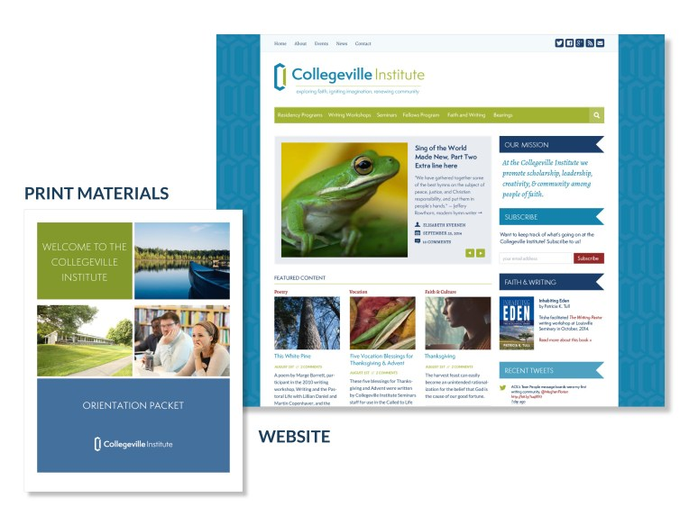 Collegeville Institute website and print materials design
