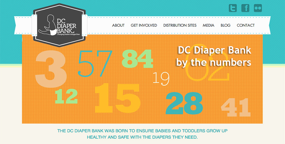 DC Diaper Bank by the numbers slider image