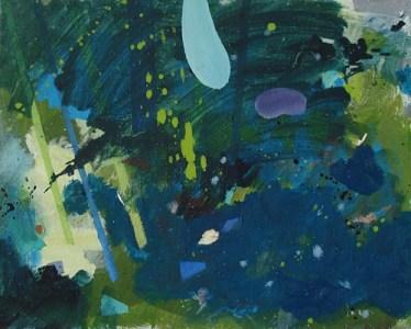 Im Gebüsch I, Öl auf Leinwand, 40 x 50 cm, 2009