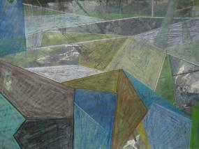 Koitenhagen morgens, Mischtechnik auf Papier, 21 x 29,7 cm, 2012