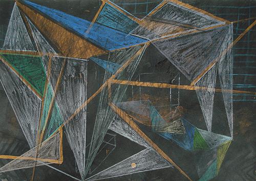 Gusow, Mischtechnik auf Papier, 21 x 29,7 cm, 2011