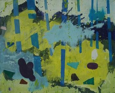 Im Gebüsch II, Öl auf Leinwand, 40 x 50 cm, 2009