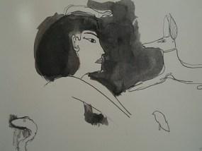 Ich bin stolz, ich bin stolz, ich bin stolz, Tusche auf Papier, 21 x 27,9 cm, 2005