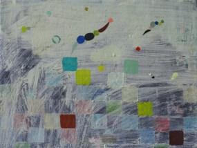'Drops and Squares', Öl auf Leinwand, 30 x 40 cm, 2013
