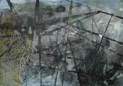 Letschin, Mischtechnik auf Papier, 21 x 29,7 cm, 2011