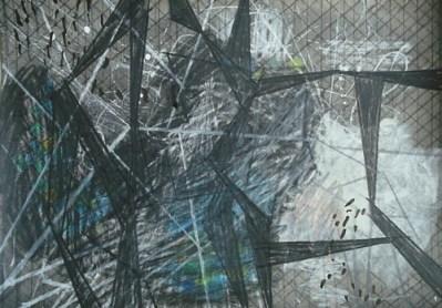 Kerkwitz, Mischtechnik auf Papier, 21 x 29,7 cm, 2010