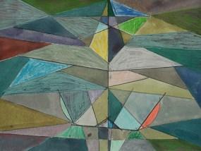 Lietzen, Mischtechnik auf Papier, 21 x 29,7 cm, 2011