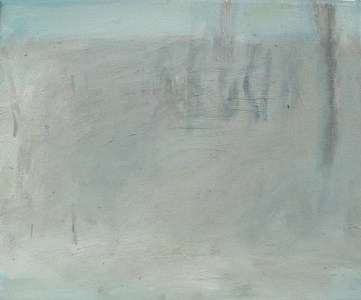 Nebelige Landschaft I, Öl auf Leinwand, 24,5 x 29,7 cm, 2004