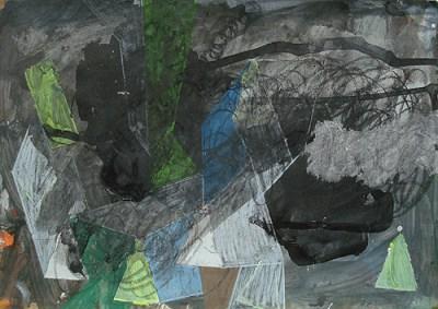 Lebus, Mischtechnik auf Papier, 21 x 29,7 cm, 2011