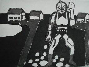 Hordak, Aquatinta, 14 x 20 cm, 2010