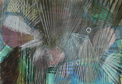 Guben, Mischtechnik auf Papier, 21 x 29,7 cm, 2009