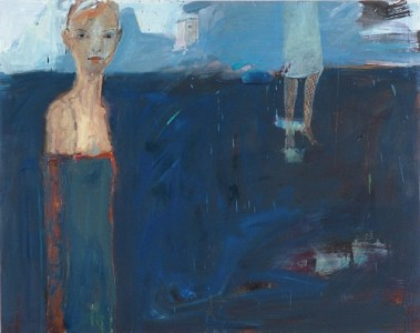 Frau mit Vogelhaus, Öl auf Leinwand, 135 x 165 cm, 2005
