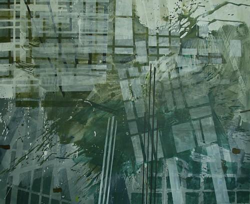 Moor/Karche, Öl auf Leinwand, 140 x 170 cm, 2009
