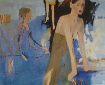Drei Frauen / Blau, Öl auf Leinwand, 135 x 165 cm, 2004