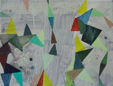 'Revue', Öl auf Leinwand, 30 x 40 cm, 2013