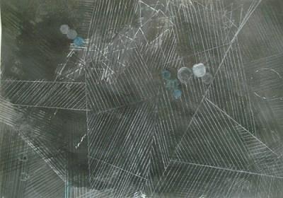 Felder, Mondschein II, Mischtechnik auf Papier, 21 x 29,7 cm, 2012