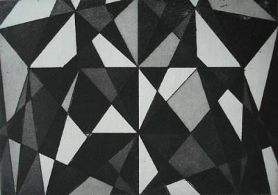 Kristallin, Aquatinta, 14 x 20 cm, 2010