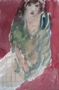 Jara, Aquarell, 21 x 29,6 cm, 2006