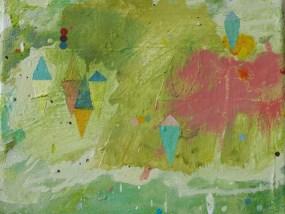 'See mit Booten', Öl auf Leinwand, 24 x 30 cm, 2013