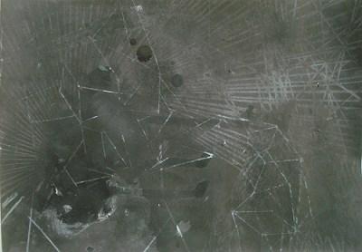 Felder, Mondschein III, Mischtechnik auf Papier, 21 x 29,7 cm, 2012