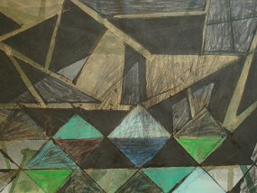 Golzow, Mischtechnik auf Papier, 21 x 29,7 cm, 2011