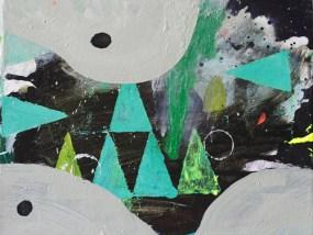 'Wald und Hügel mit Schnee', nachts, Öl auf Leinwand, 24 x 30 cm, 2013